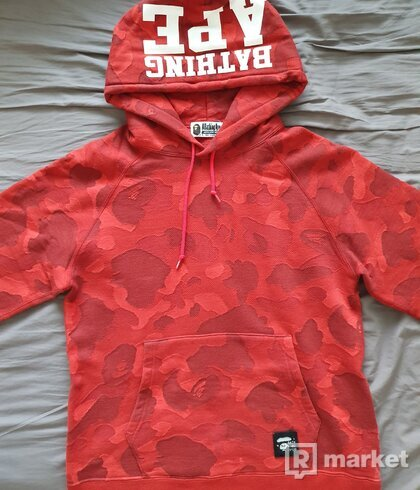 Bape Red Camo Hoodie