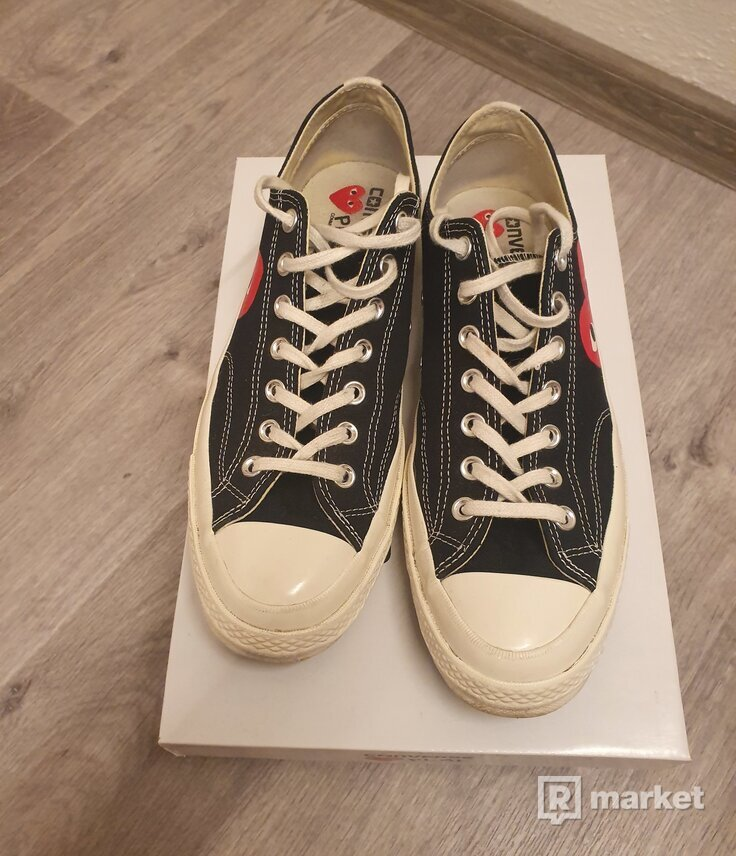 CDG Converse Black Low