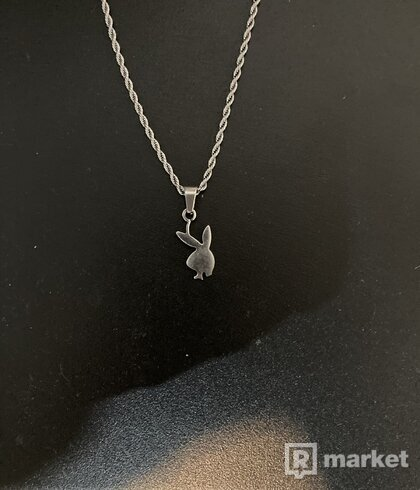 Playboy silver chain