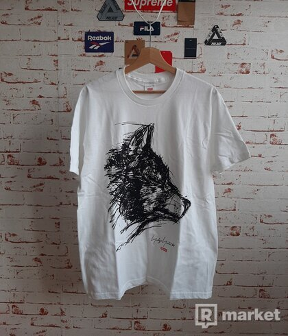 Supreme Scribble Wolf Tee White