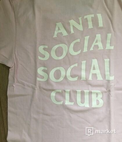 Anti Social Social Club pink tee