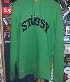 Stussy Green Hoodie Big Logo