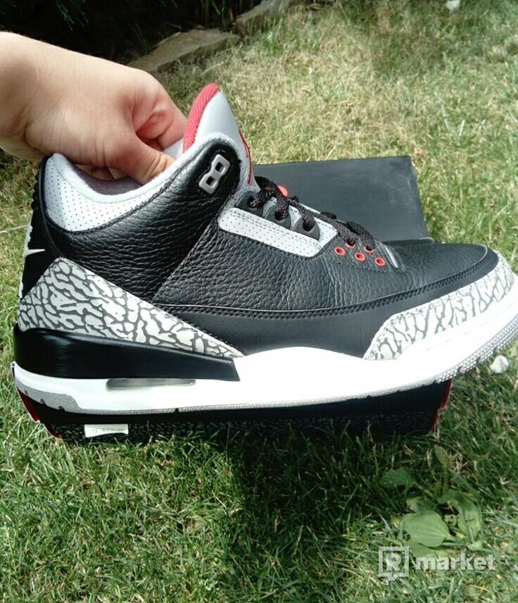 Air Jordan 3 Black Cement 2018