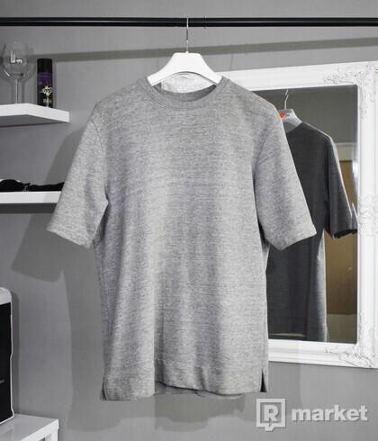 MENNACE Grey Boxy Sweat T-Shirt