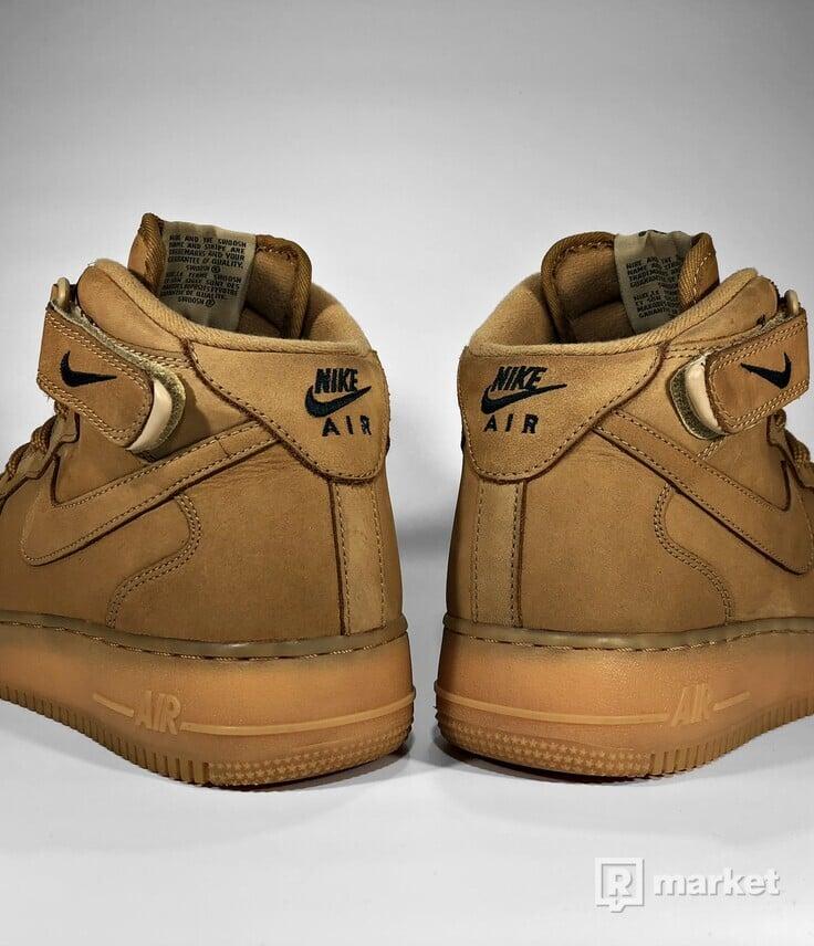 "Nike Air Force 1 Mid ""Flax"" 2014"