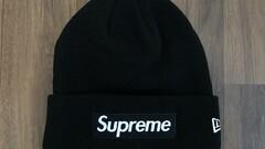 Supreme X New Era Box Logo Beanie Black