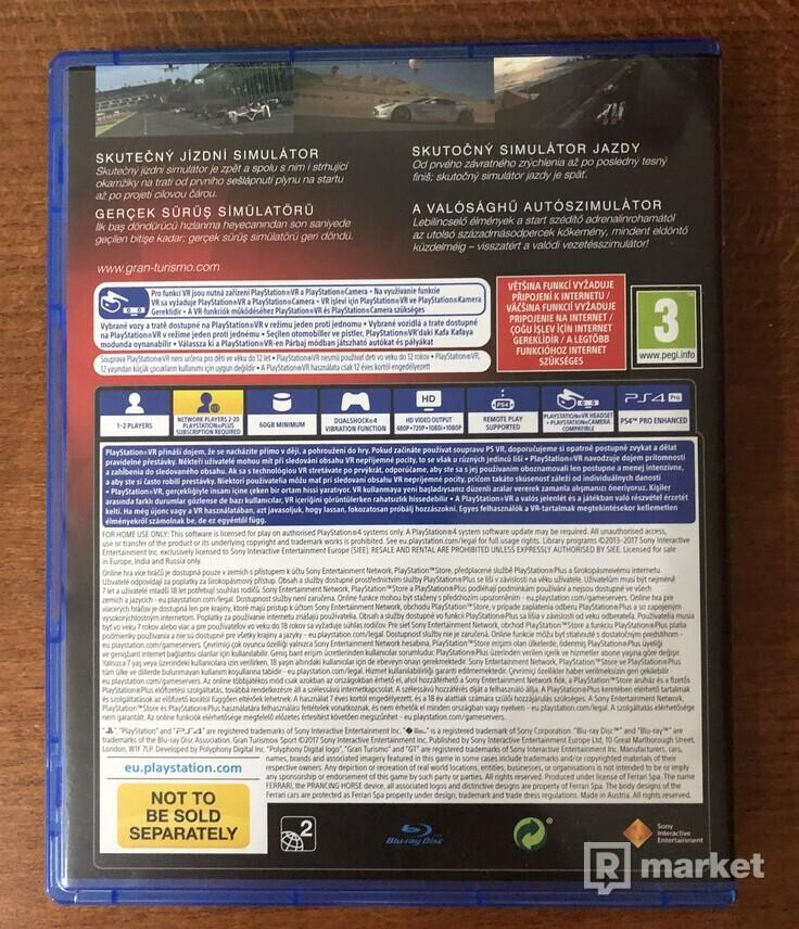 Predám Gran turismo sport PS4 nové