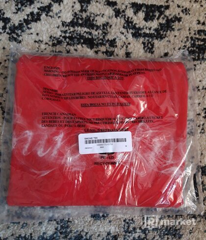 Supreme Smoke Tee Red