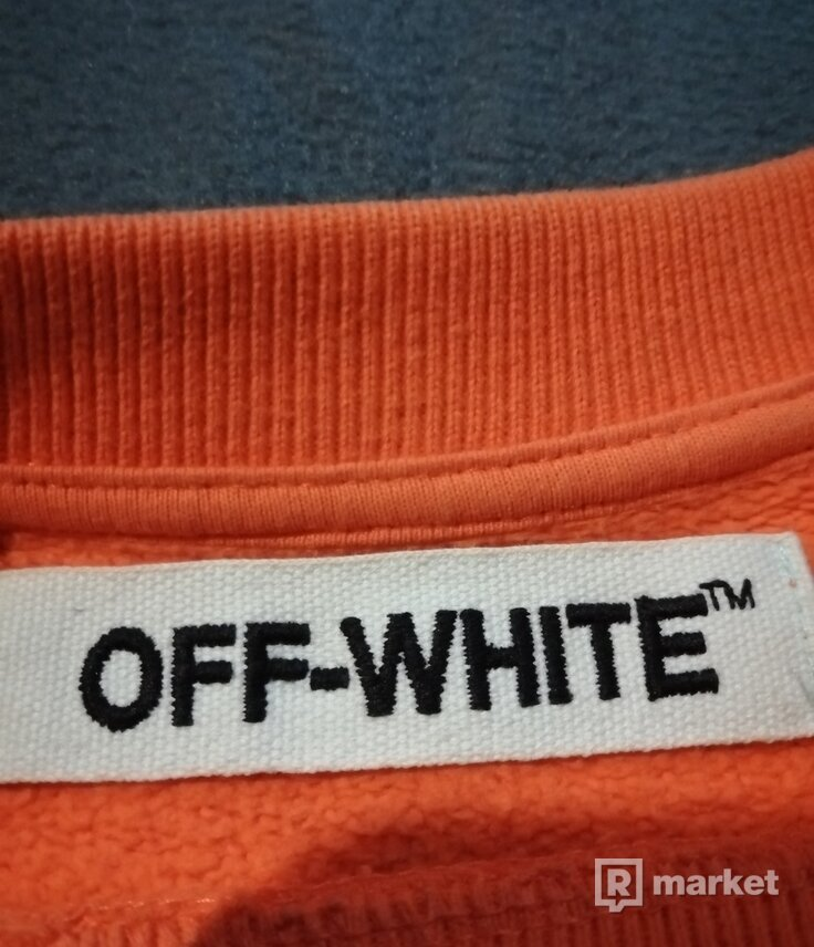 Off white x vlone crewneck orange