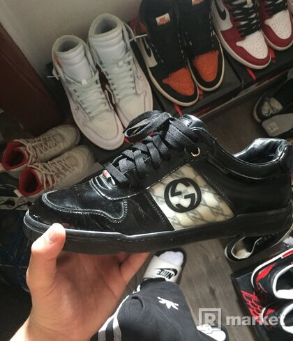Gucci patent leather sneakers