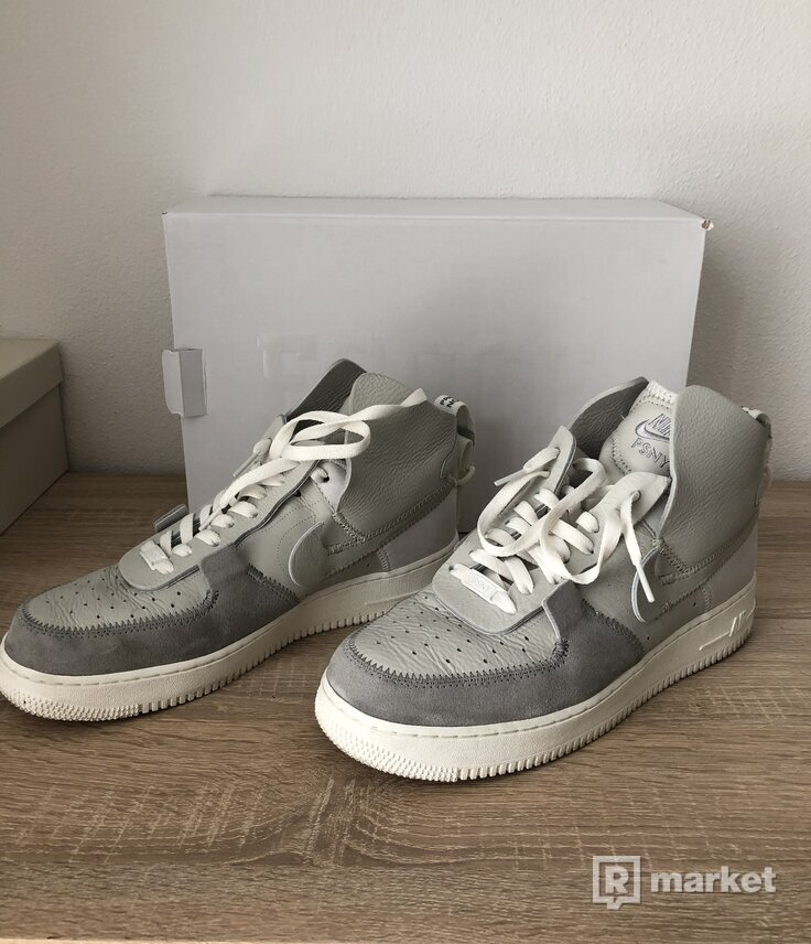 Nike Air Force 1 High Public School New York matte silver/ light bone-sail us/eu 11/45