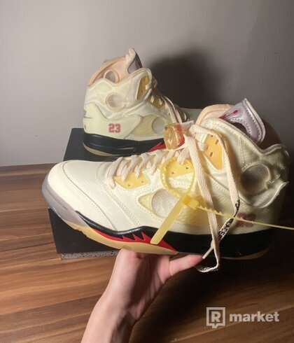 Air jordan 5 x off white