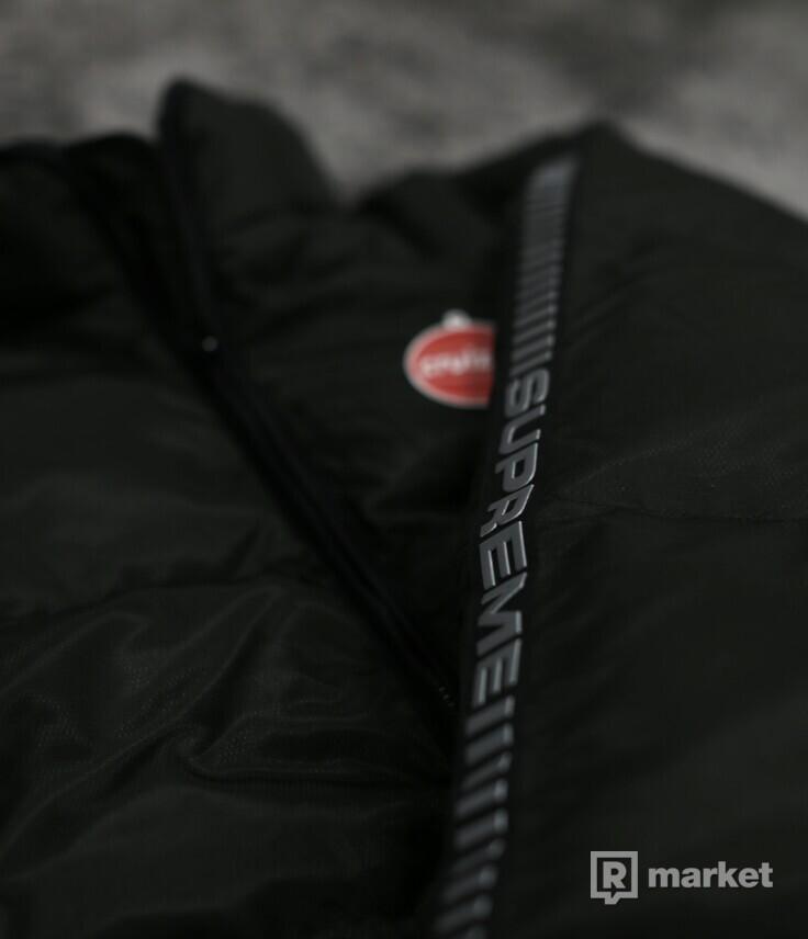 Supreme Reflective Sleeve Puffy Jacket Black