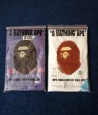 BAPE Fire Camo Big Ape Head tee + BAPE Kanji Logo Tee