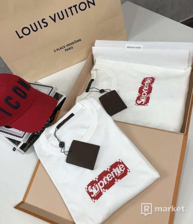 LOUIS VUITTON x SUPREME tričko
