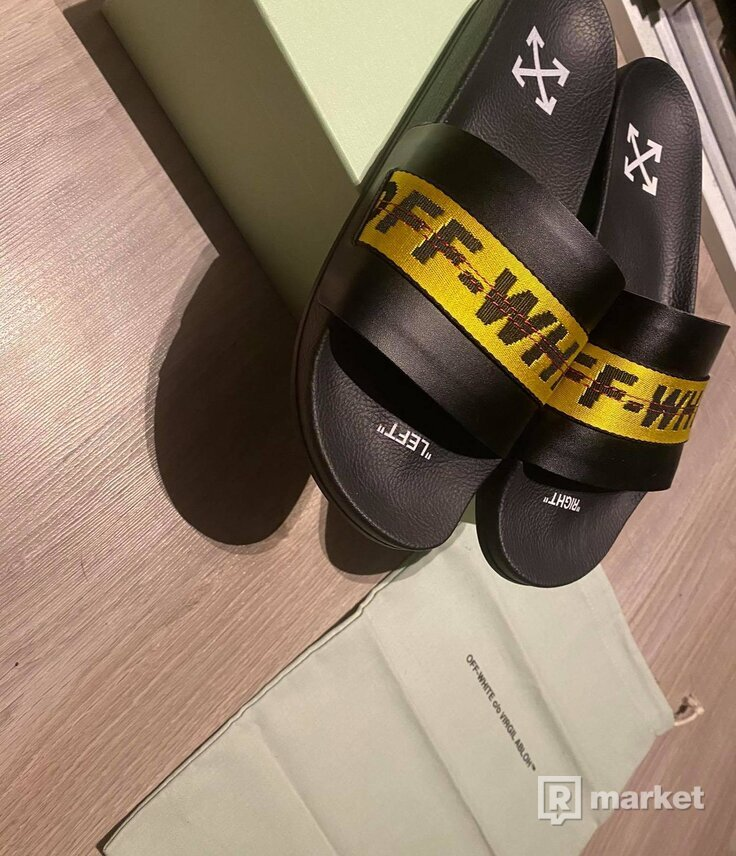 Off-White Industrial Strap Slides Black +All Accessories DS