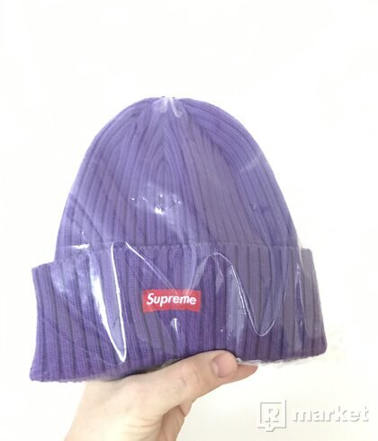 SUPREME OVERDYED PURPLE BEANIE