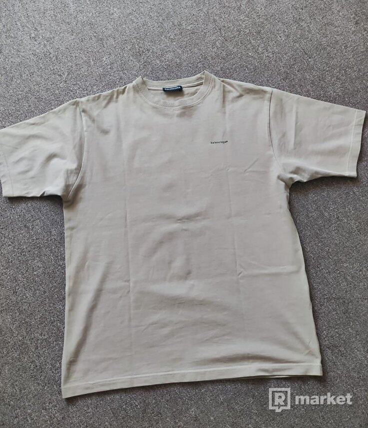 Balenciaga Mini Logo T-Shirt tričko (Khaki)