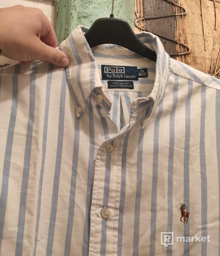 Polo Ralph Lauren Striped Oxford Shirt, Blue/White