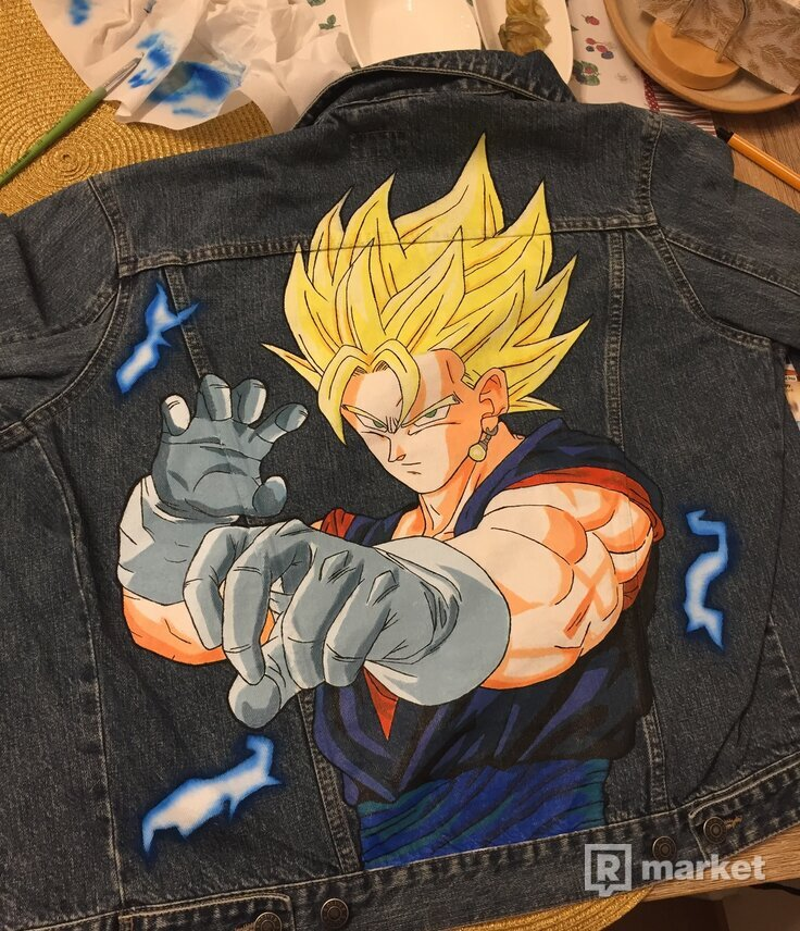 Customized Denim Jacket Dragon Ball