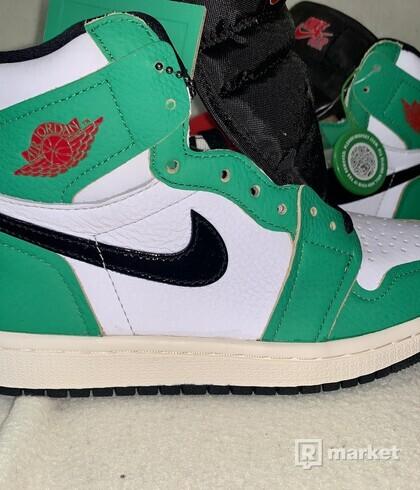 JORDAN 1 HIGH- lucky green/ wmns