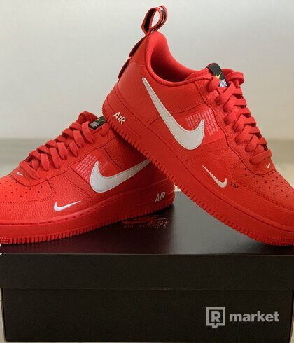 "Nike Air Force 1 LV8 Team Orange ""Overbranding"""
