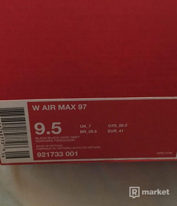 Nike air max 97 triple black