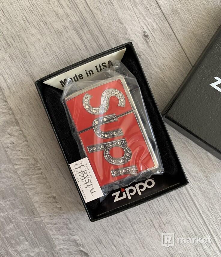 Supreme Swarovski Zippo Red