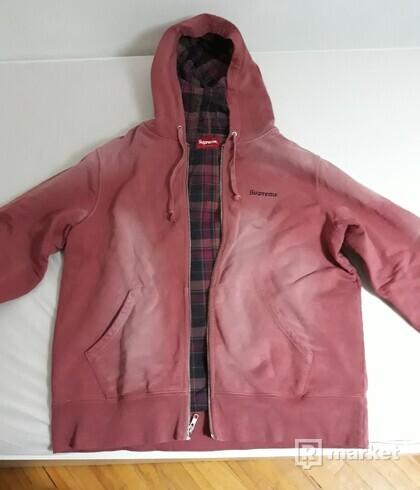 Supreme bleached dark rose hoodie