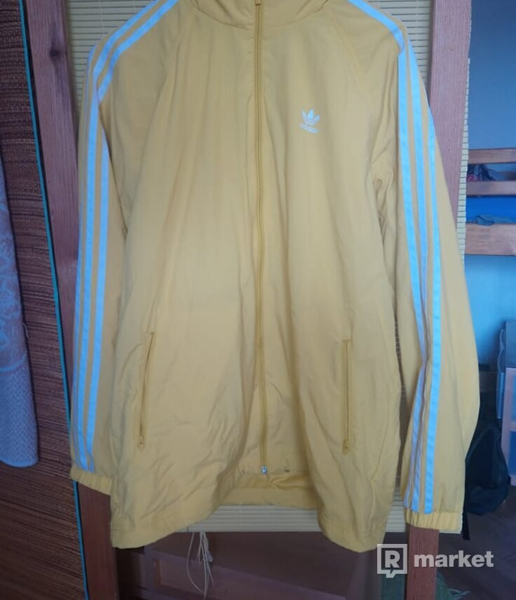Adidas yellow windbreaker