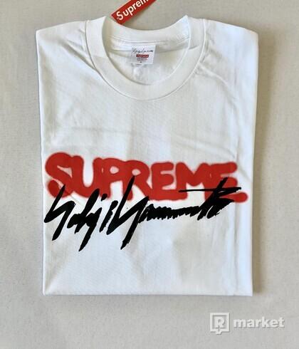 Supreme x Yohji Yamamoto Logo Tee White