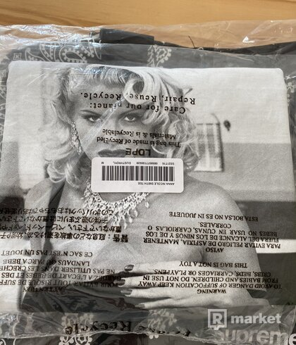 Supreme Anna Nicole Smith Tee Dusty Light Royal