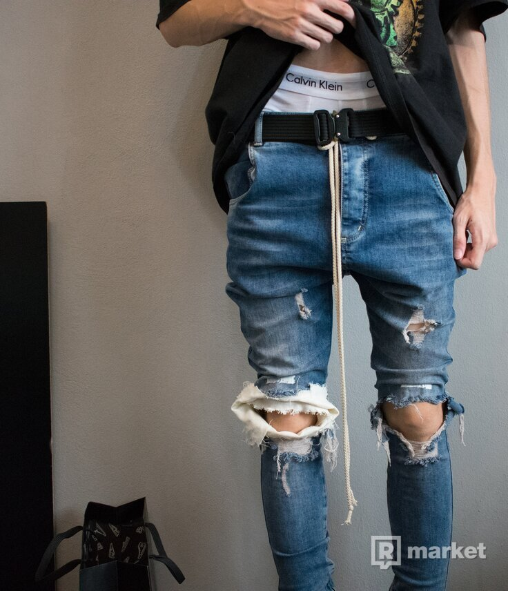 Custom Drop Crotch Skinny Jeans