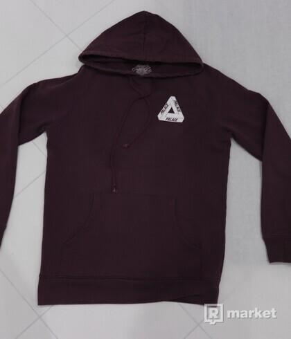 Palace Burgundy Tri-Ferg hoodie