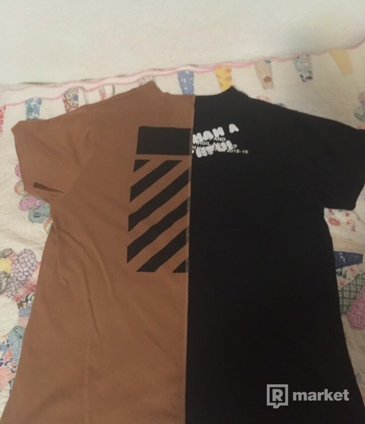 Off white x midnight studios Split tee