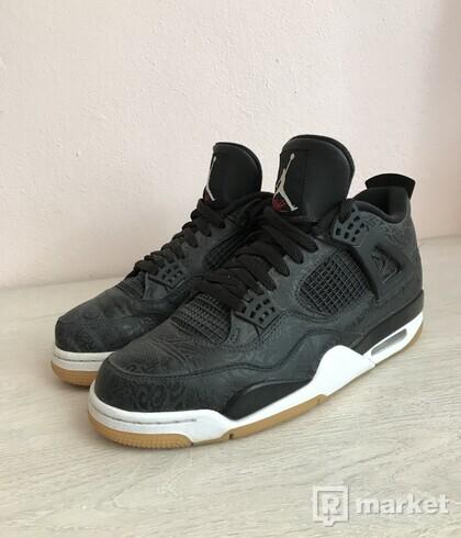 Jordan 4 black laser