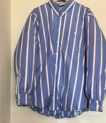 Vetements Stripe Puffa Shirt Jacket