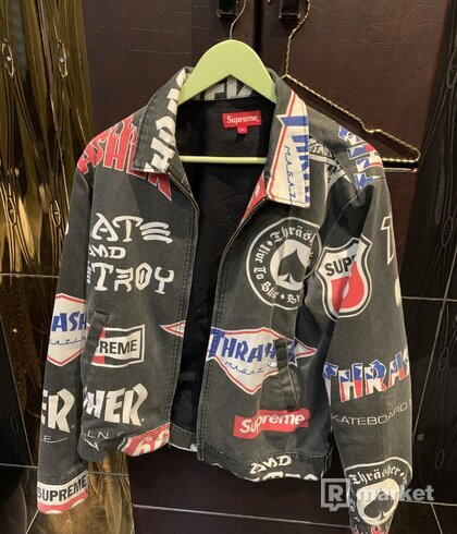 Supreme x Thrasher work jacket black