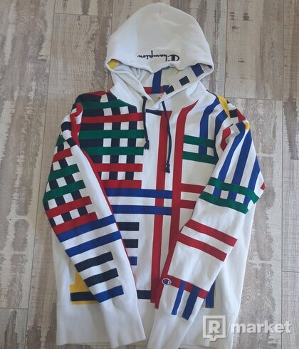 CHAMPION REVERSE WEAVE OVERSTRIPED HOODIE