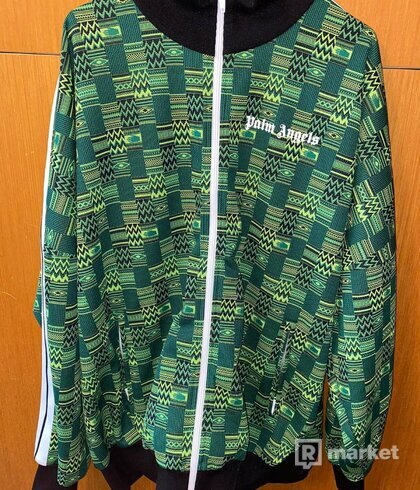 Palm Angels Jacquard knit jacket XL