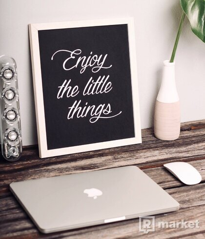 Obraz - Enjoy the little things - white