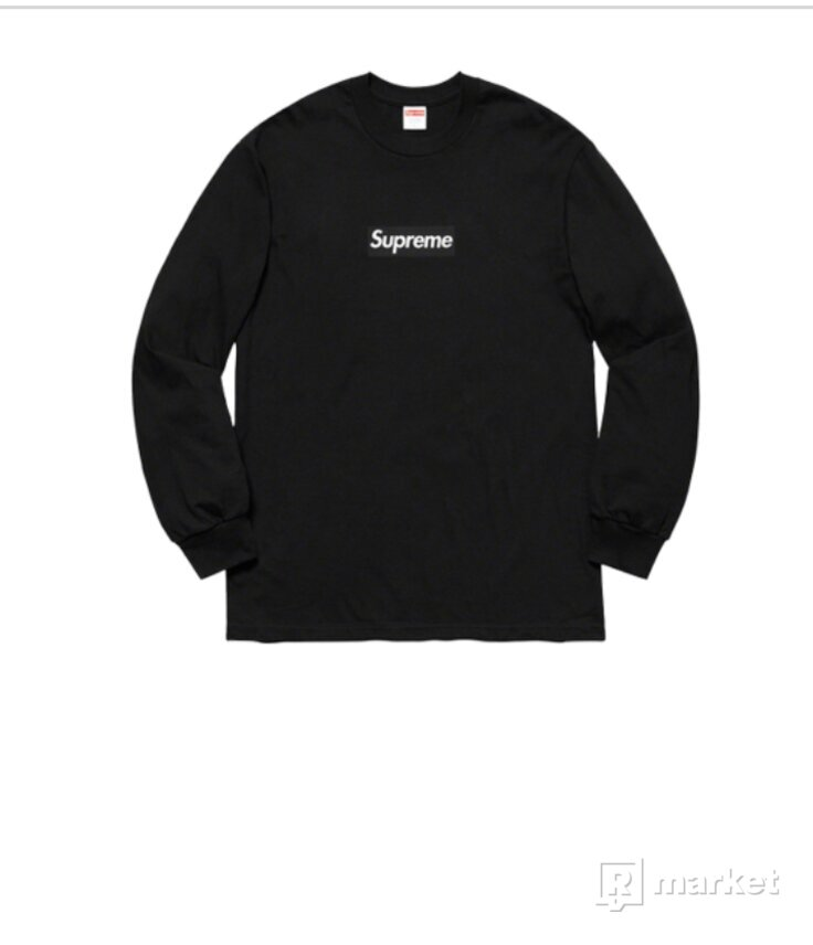 Supreme Box Logo L/S Tee Black (FW20) Size XL