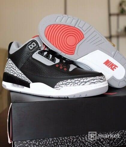 Air Jordan 3 Black Cement, velikost US9