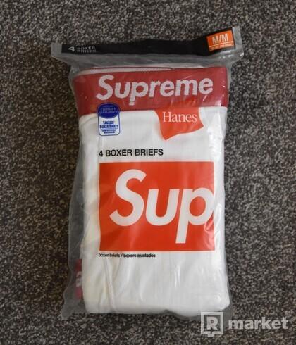 Supreme Hanes Boxers White