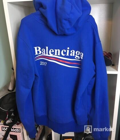 Balenciaga Blue Campaign Logo Hoodie 2017