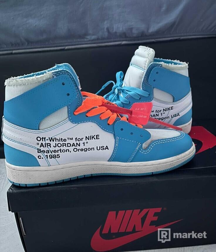 Jordan 1 High Off-White University Blue