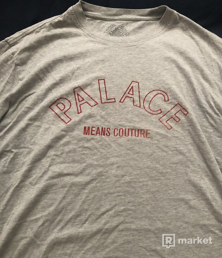 Palace couture T-shirt grey marl