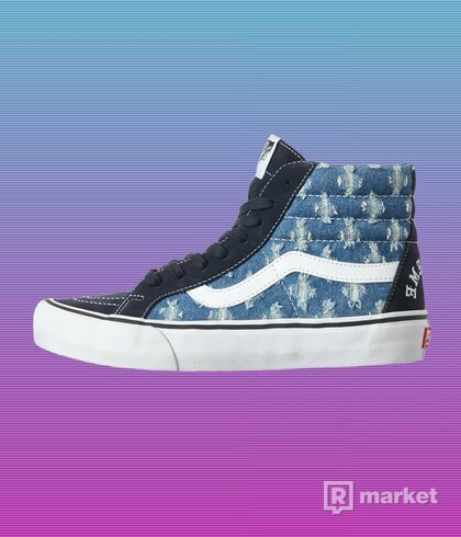"SUPREME VANS HIGH PUNCH HOLE DENIM ""BLUE"""
