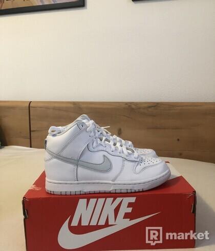 Nike Dunk Hi Platinum White