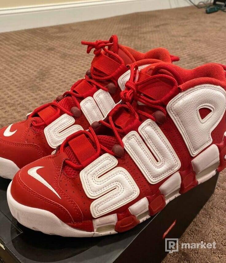 Supreme x Air More Uptempo 'Red'